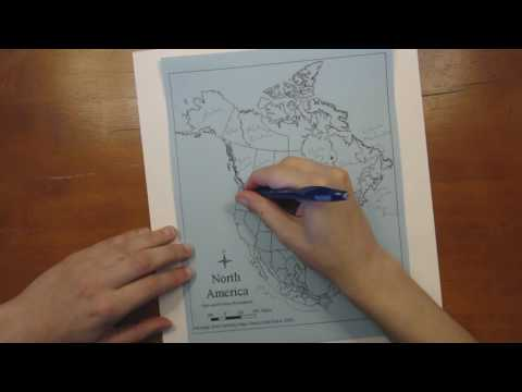 Completing an Outline Map - North America