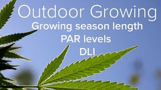 Download Video Growing Outdoors - Growing Season Length - PAR levels - DLI (Daily light Integral) MP3 3GP MP4
