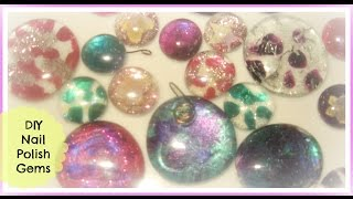 Recycle Nail Polish Jewelry Craft Tutorial/ How To- Make Nail Polish Gems