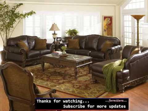 Living Room Set Leather Blue Sofa Furniture Colelction Romance Youtube