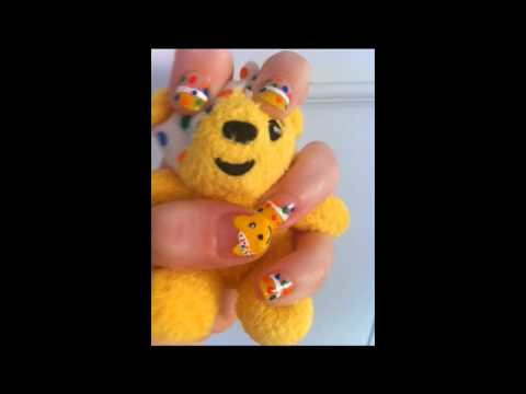 Children In Need Nail Art Youtube