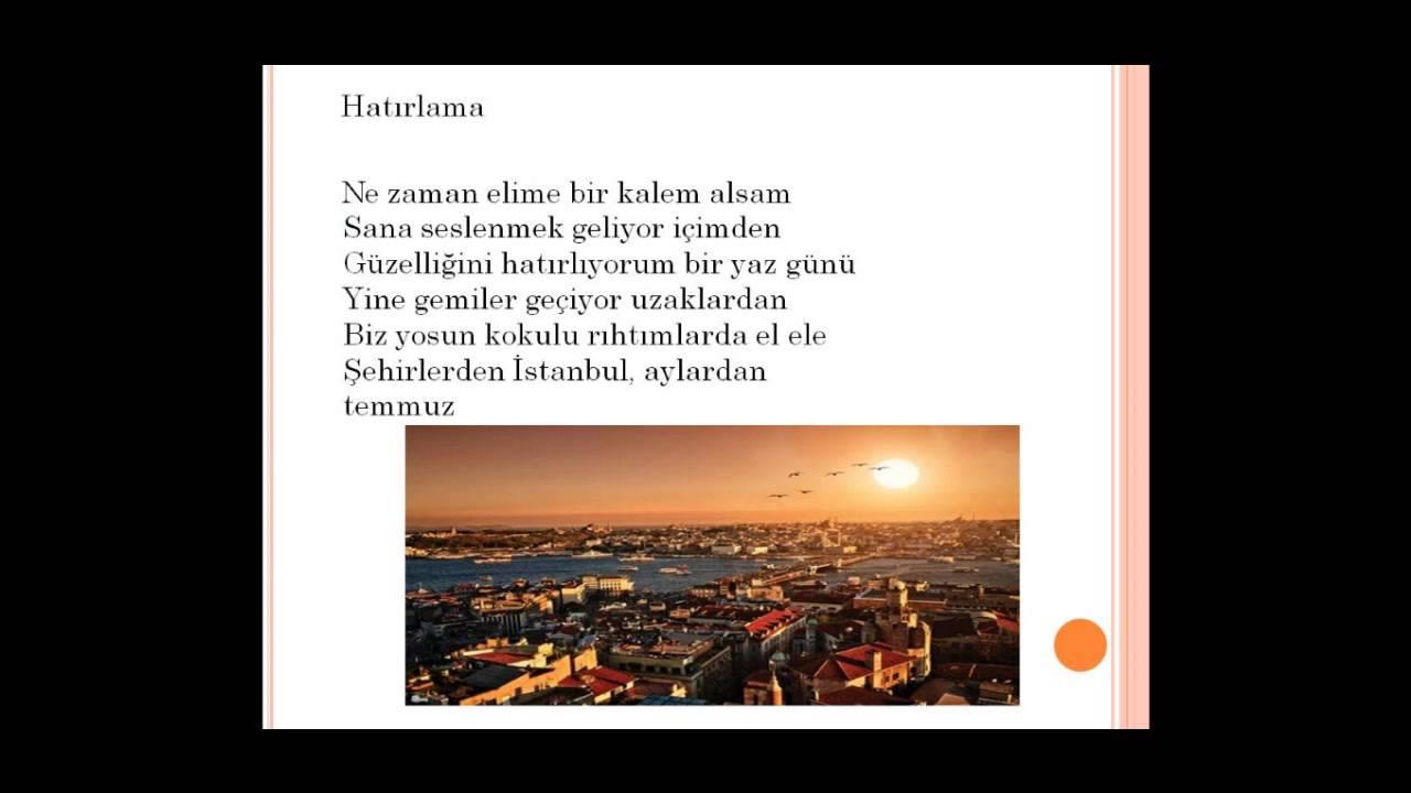Istanbul şiirleri Antolojisi Youtube