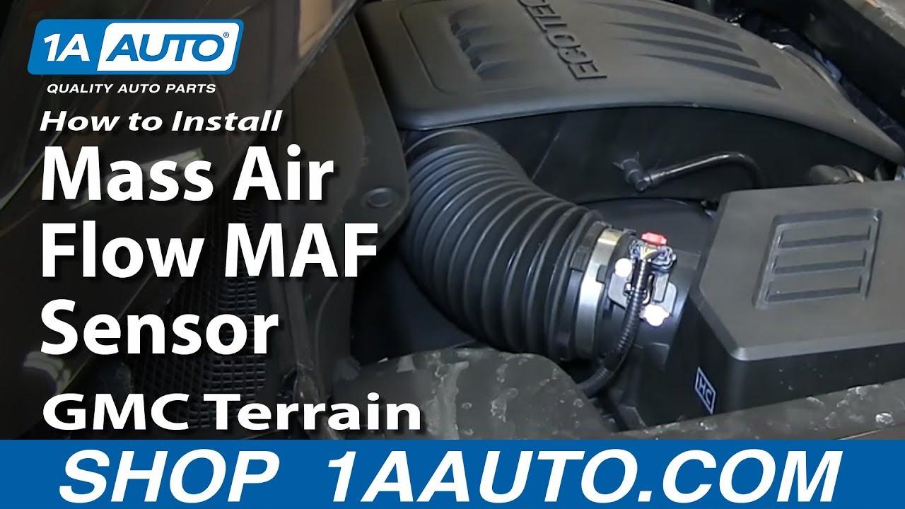 how to replace air flow meter sensor 10 12 gmc terrain [ 1280 x 720 Pixel ]