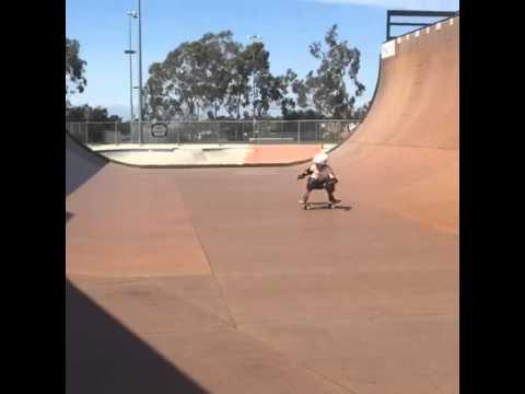 Sierra Kerr skateboarding Vert girl age 8. Skateboarding girl Vert.