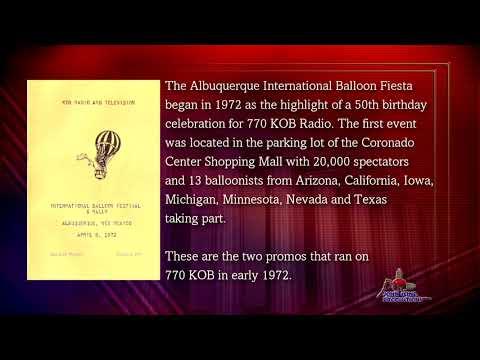 KOB Radio promos for the first Albuquerque Balloon Fiesta in 1972