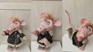 Мастер класс. Символ 2020, крыса из капрона.