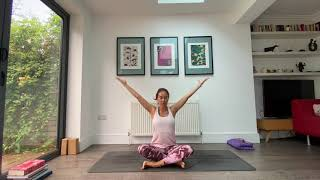 Our 14th Yoga Video - Practicing the Half Moon pose