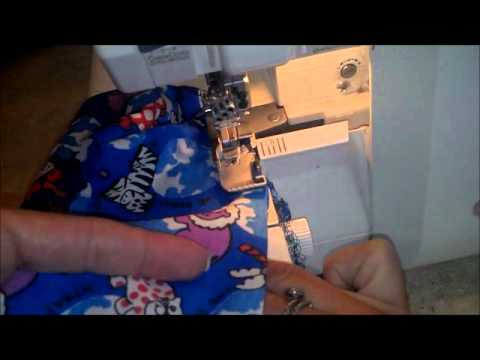 Scrub hat how to sew step 3 - YouTube
