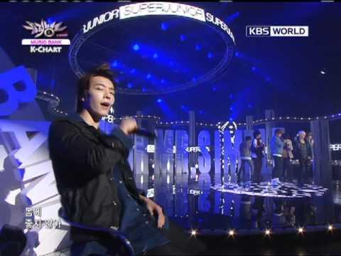 [Music Bank K-Chart] 4th week of August & Super Junior - Mr. Simple (2011.08.26)
