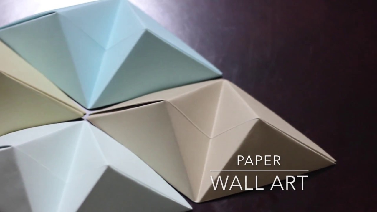 Paper Wall Art diy - origami wall art - youtube