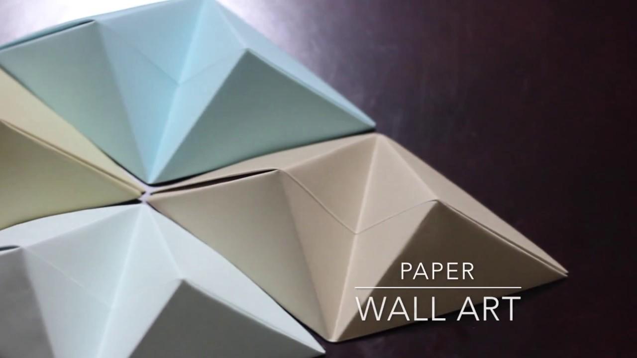 DIY - Origami Wall Art - YouTube