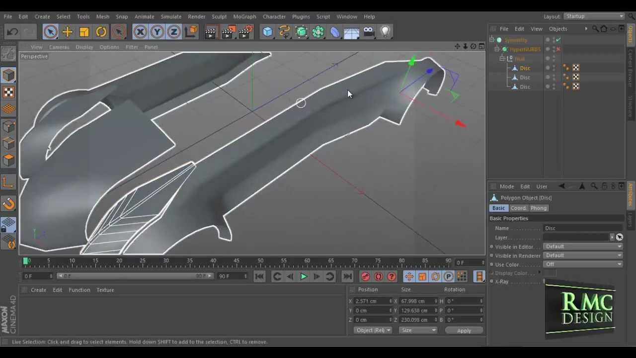 Car Body Designer   Cinema 4D   YouTube