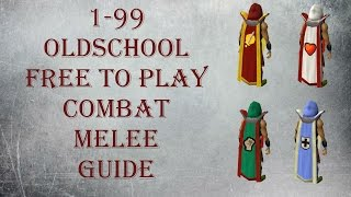 OSRS 1-99 melee combat guide for F2P [OSRS] [2007] [F2P]