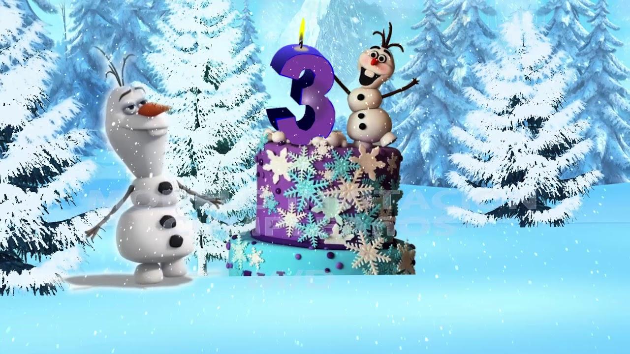 Tarjeta De Invitacion Virtual Cumpleaños Frozen Youtube