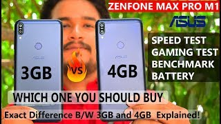 Asus Zenfone Max Pro M1 - 3GB vs 4GB Variant #Speed #Gaming#Benchmark