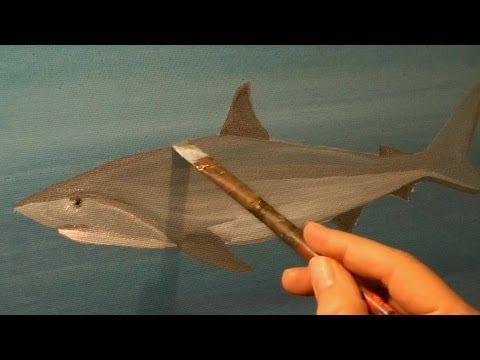SHARK TANK SURREAL ACRYLIC PAINTING Speed Art By RAEART