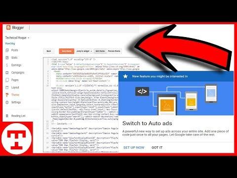 How To Add Google Adsense Auto ads code On Blogger