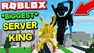 ROBLOX GODZILLA SIMULATOR! *WORLD'S BIGGEST SERVER KING*