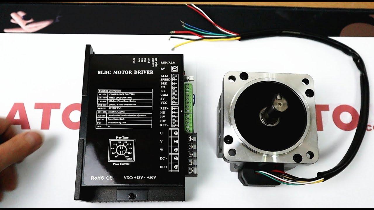 24V/48V BLDC Motor Hall Sensor Controller Connection & Control. on
