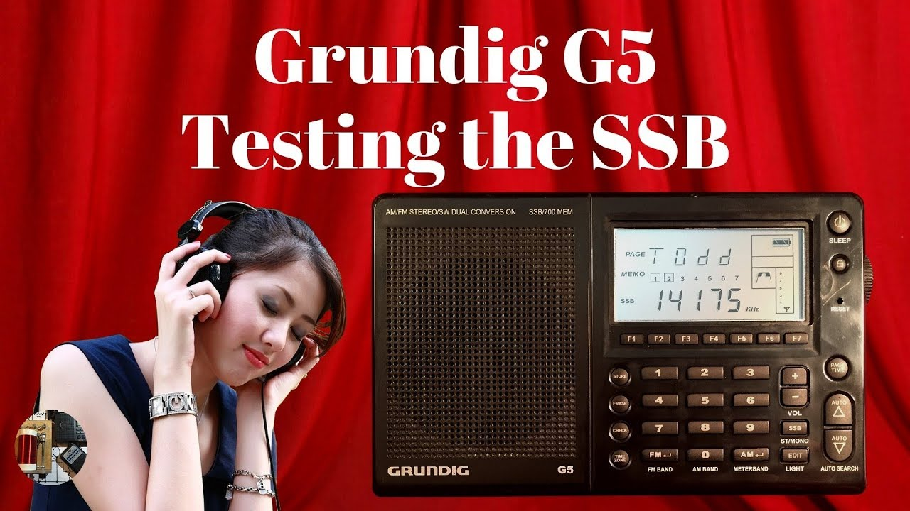 A quick SSB tuning test of the Eton Grundig G5 Portable Shortwave Radio
