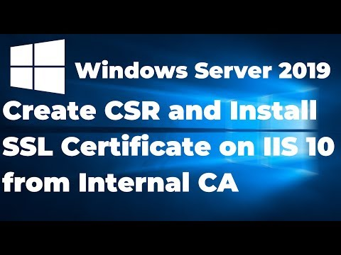 18.  Create CSR And Install SSL Certificate On IIS 10 From Internal CA