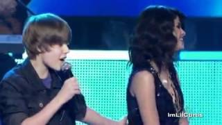 Justin Bieber Boyfriend Believe Baby LIVE FIRST KISS Selena Gomez Hit The Lights Be Alright   YouTube