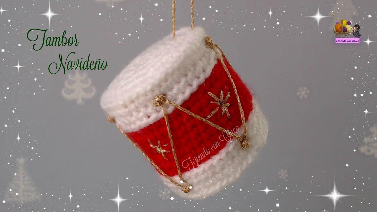 Tambor de crochet para adornar en Navidad - YouTube