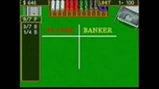 SEGA Casino Nintendo DS Gameplay - Baccarat