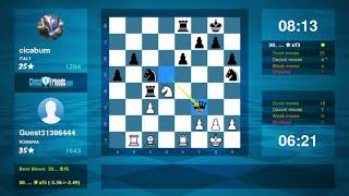 Chess Game Analysis: Guest31386444 - cicabum : 1-0 (By ChessFriends.com)