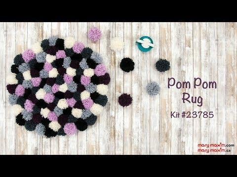 Mary Maxim's Pom Pom Rug Kit #23785