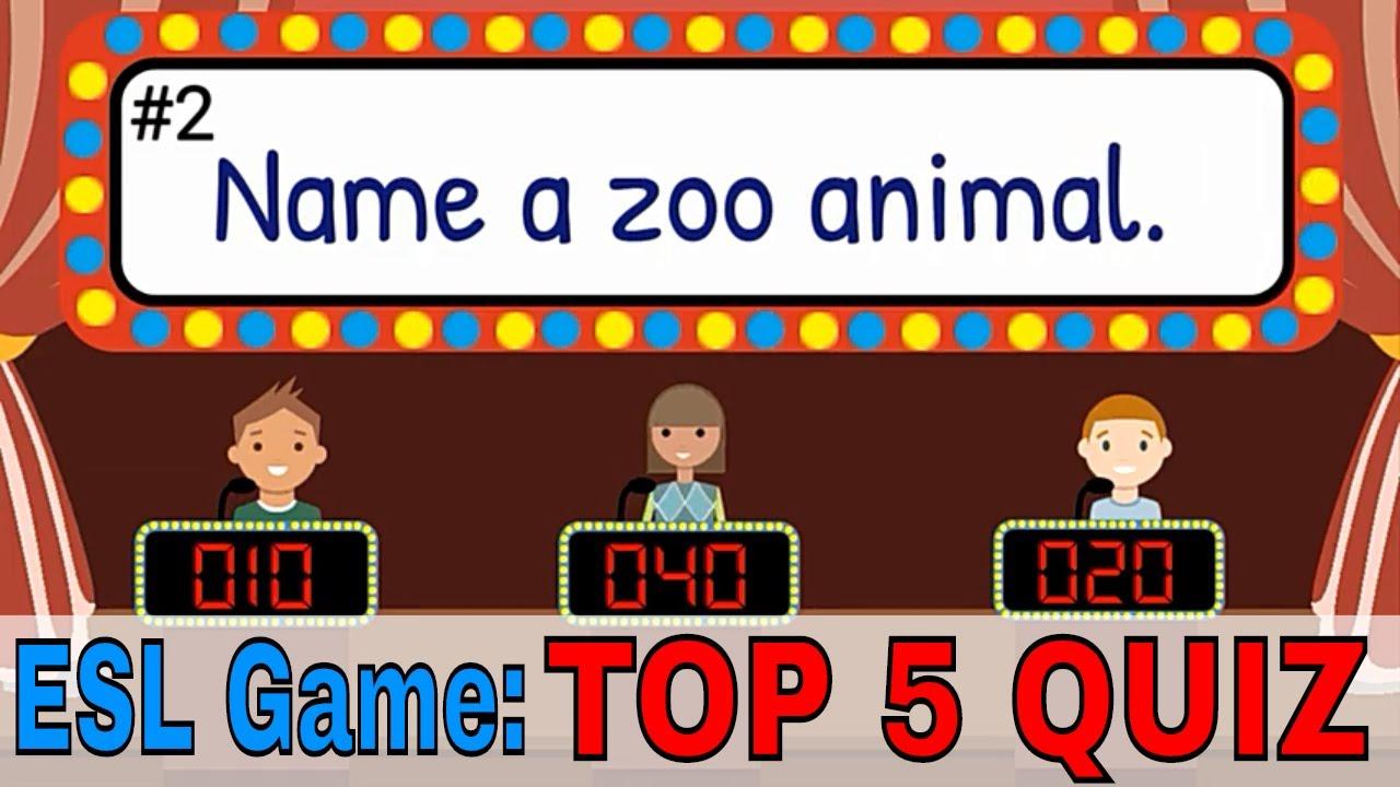 English Quiz For Kids Easy Esl Quiz Esl Classroom Games Youtube