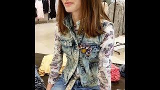 Фото Как сделать модную джинсовую куртку.  How To Make Fashionable Jeans
