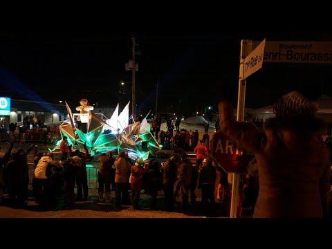Carnaval de Québec 2018-Défilé de nuit de Charlesbourg (1de2)/Night Parade winter carnival