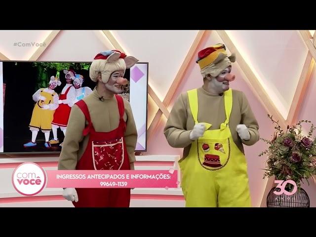 Os Três Porquinhos: espetáculo está em cartaz no teatro Ednaldo do Egypto - Com Você