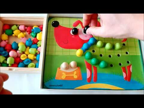 Learn colors with animals mosaic: dog puzzle game for kids |