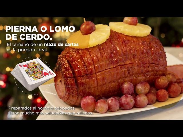 Guía de porciones para tu cena navideña