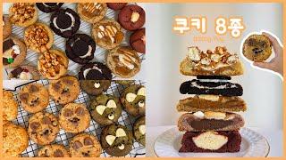 8가지 맛 쿠키 약 70개 만드는 홈베이킹 영상초코칩,…
