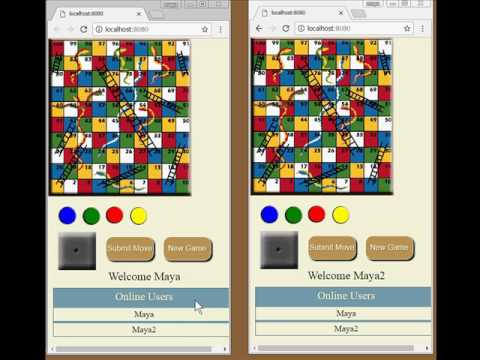 Snakes and Ladders Game (A node.js app)