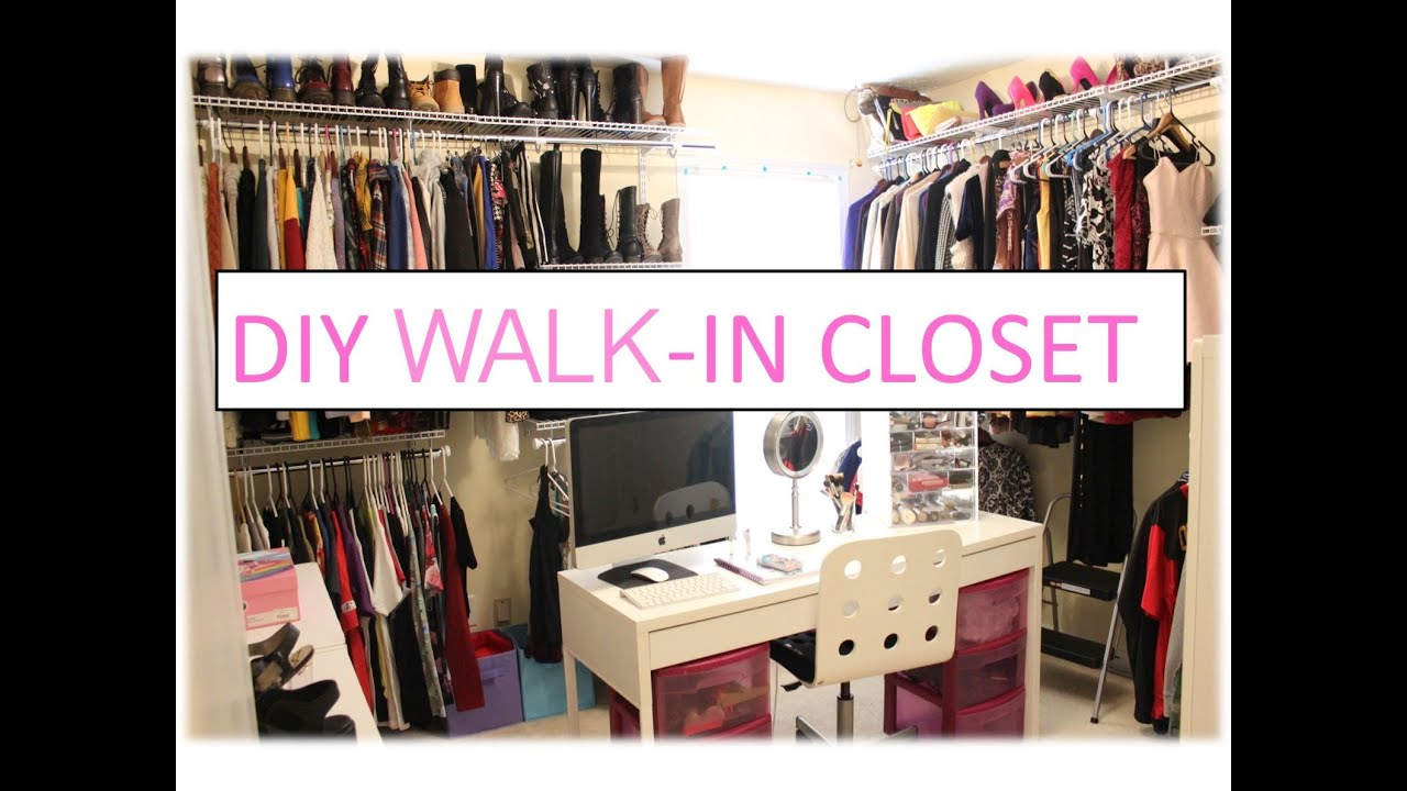 Marvellous build a closet organizer diy roselawnlutheran for How to build a walk in closet step by step