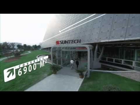 solar powered office building by suntech