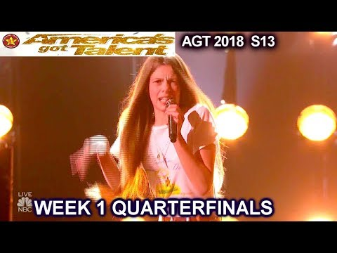 "Courtney Hadwin ""Papa's Got A Brand New Bag"" AWESOME!!Quarterfinals 1 America's Got Talent 2018 AGT"