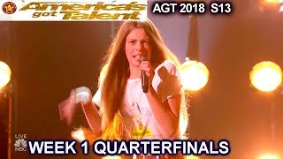 Courtney Hadwin 'Papa's Got A Brand New Bag' AWESOME!!Quarterfinals 1 America's Got Talent 2018 AGT