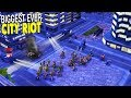 BIG CITY RIOT DESTROYS SKYSCRAPERS, 911 EMERGENCY | Command & Conquer Generals Gameplay