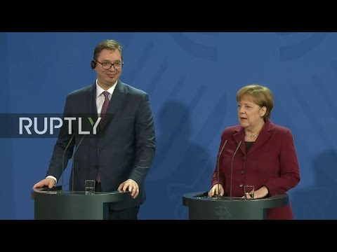 LIVE: Merkel holds joint press statement with Serbian PM
