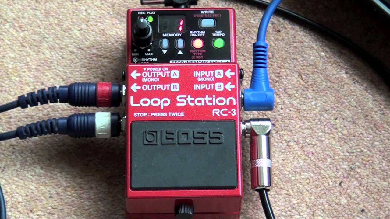 boss rc 3 loop station stereo demo youtube. Black Bedroom Furniture Sets. Home Design Ideas