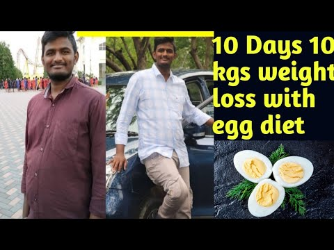 10 Days 10 Kgs WeighLoss with Egg Diet||Full day egg diet to loss weight#charming sruthi