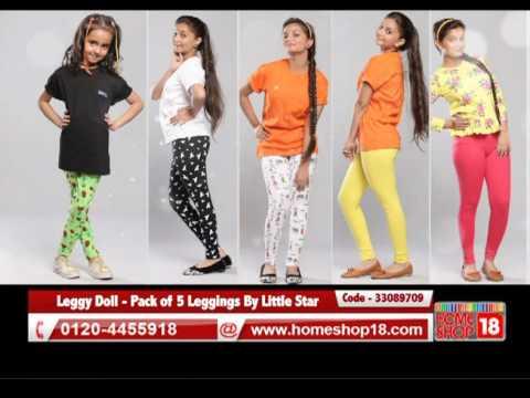 61e5dae7c Leggy Doll - Pack of 5 Leggings By Little Star - YouTube