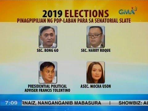 Pinagpipilian ng PDP-Laban para sa senatorial slate