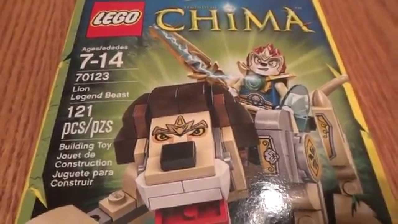 ... DE LA LEYENDA DEL LEON LEGENDS OF CHIMA (70123) UNBOXING - YouTube