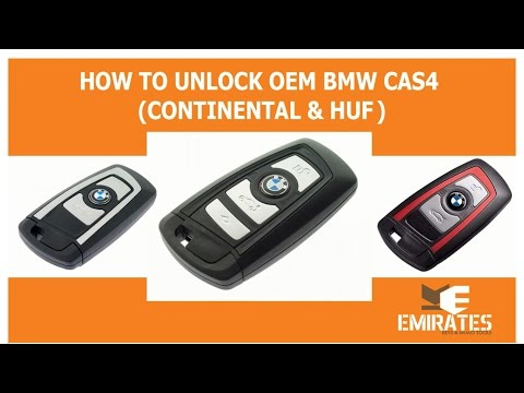 HOW TO UNLOCK OEM BMW CAS4 CONTINENTAL & HUF PCF7952 via MK3